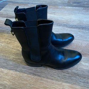 Ralph Lauren black leather boots style Mona